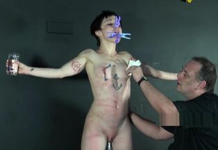 Restrain bondage and smacked